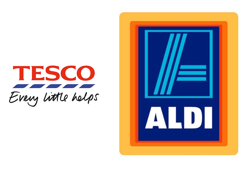 tesco and aldi logo